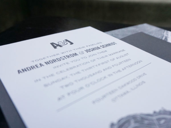 <span>A&J Letterpressed Wedding Invitation</span><i>→</i>