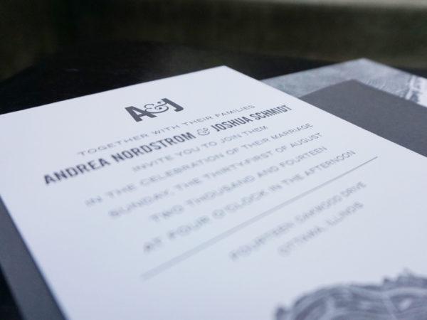 <span>A&J Letterpressed Wedding Invitation</span><i>→</i>